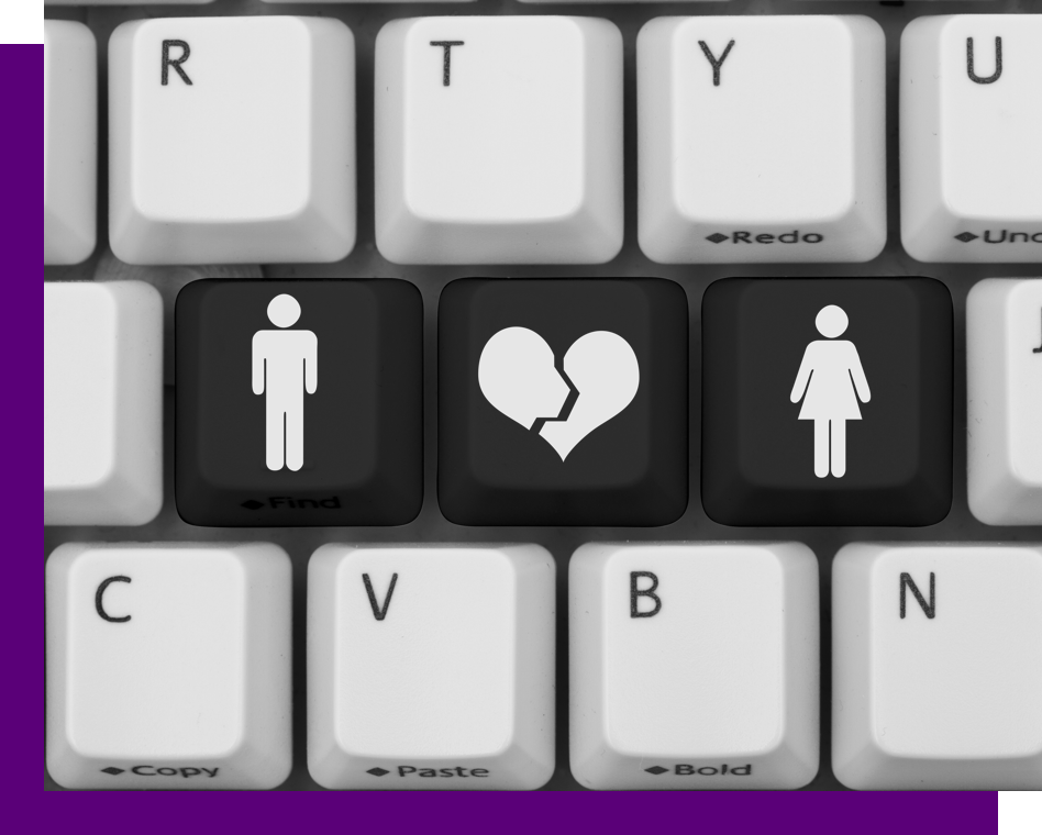 a boy, broken heart, and girl keyboard keys