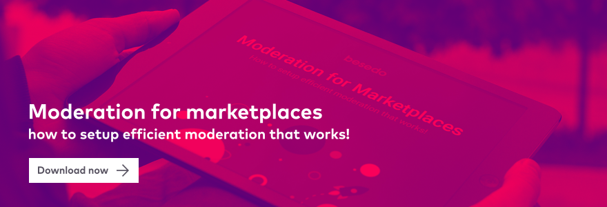 moderation for marketplace and company trust CTA