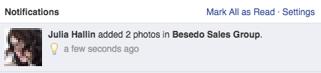 facebook notification screenshot