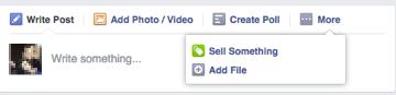 facebook update bar screenshot