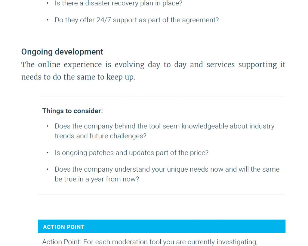ongoing development process screenshot