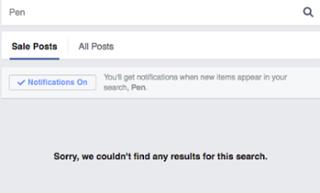 sale post not found screenshot