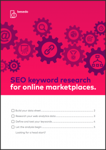 Checklist - seo keyword research for online marketplaces
