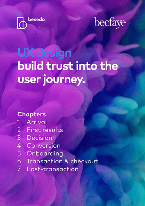 UX design build trust into the user journey front page