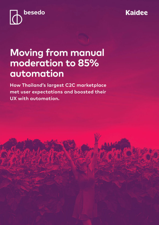 Kaidee Moderation Case Study - front page