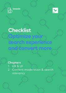 Checklist - Optimize your search experience and convert more - front page